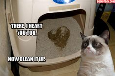There, I heart you too.  Now clean it up.