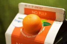 Orange Juice Packaging :D Juice Packaging, Cool Packaging, Beverage Packaging, Brand Packaging, Product Packaging Design, Food Design, Creative Design, Orange Juice, Orange Orange