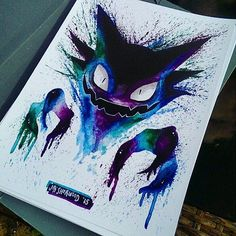 As you already know I love spooky pokemon art and this haunter by fits perfectly … Más Creepy Pokemon, Ghost Pokemon, My Pokemon, Cool Pokemon, Pikachu, Haunter Pokemon, Pokemon Maker, Pokemon Tattoo, Pokemon Fan Art
