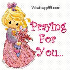 Little girl praying for get well you soon