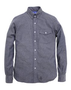 Flannel Tab Collar Shirt - Blue