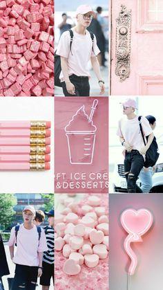 Jin Moodboard #jin #BTS #BangtanSeyeondan #Wallpaper #pink #pastel #Moodboard #Aesthetic