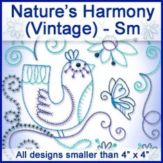 A Nature's Harmony (Vintage) Design Pack - Sm design (X10545) from www.Emblibrary.com