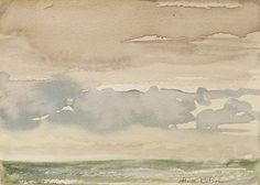 Jane Wilson - Artists - DC Moore Gallery Clouds and Rain, 2005 Watercolor on paper, 5 x 7 inches