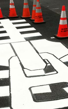 Baltimore's new Bromo Tower Arts & Entertainment District gets playful with artist designed crosswalks.