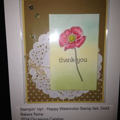 Leadership display boards sample. Happy Watercolor stamp set To order Stampin'Up! products, please visit my blog at www.stampinjo.stampinup.net