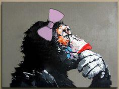שימפנזה עם אודם/A chimp with lipstick