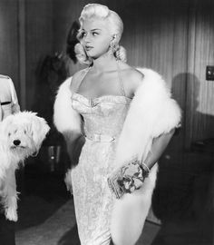 theniftyfifties: Diana Dors She's okay, but that looks like an awfully huggable shaggy dog! 50s Glamour, Old Hollywood Glamour, Golden Age Of Hollywood, Vintage Glamour, Vintage Hollywood, Hollywood Stars, Vintage Beauty, Classic Hollywood, Hollywood Icons