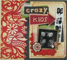 Crazy kid page layout