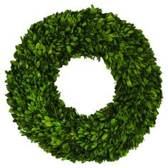 Preserved Round Boxwood Wreath.