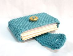 Nicely Created For You: Lake Blue Crocheted Business/Credit Card Holder