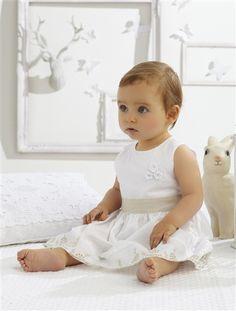 Robe de cérémonie unie bébé fille BLANC - vertbaudet enfant