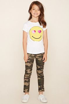 FOREVER 21+ Girls Camo Jeans (Kids)