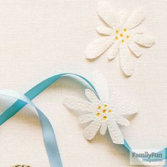 "Edelweiss: Celebrate the 50th anniversary of The Sound of Music with this quick craft. Create the ""blossom of snow"" celebrated in song by the Captain and his crew by cutting flower shapes out of a white paper towel, then dotting yellow or gold marker in the center."
