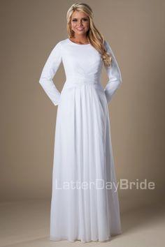 Houston | LDS Temple Dress | Modest | LatterDayBride | SLC | UT | Salt Lake City | Utah | Worldwide Shipping |