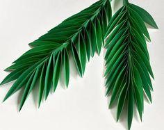 Hojas de papel, hojas de verde, hojas corte outs, paquete de 5 hojas, hojas, hoja de Palma, hojas tropicales - bajo la sombra de la palma