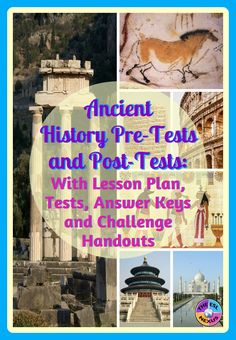 Use this pre-test at the beginning of the year to assess what students already know about human prehistory & major civilizations of the ancient world.  Use the post-test at the end of the year to see what they've learned about ancient history.