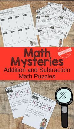 FREE Math Mysteries - FUN Addition and Subtraction Math Problems - these free printable math word problems make it fun for kindergarten, first grade, grade, grade, and grade students to practice math. Second Grade Math, First Grade Math, Grade 1, 2nd Grade Centers, 2nd Grade Math Games, Sixth Grade, Math Enrichment, Math Activities, Math Worksheets