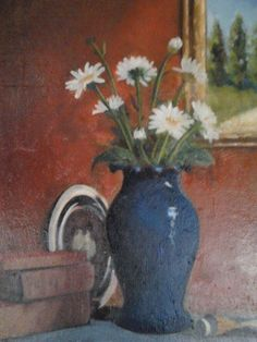 The Anniversary.oil on Paintings, Vase, Oil, Happy Anniversary, Board, Home Decor, Happy Brithday, Decoration Home, Paint