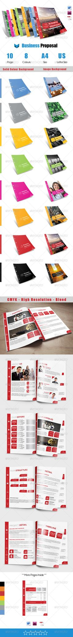 Gold Business Proposal Business proposal, Indesign templates and - advertising proposal template