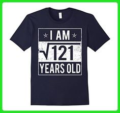 Mens Square Root 121 for 11th Birthday 11 Years Old T-Shirt 2XL Navy - Birthday shirts (*Amazon Partner-Link)