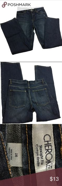 """🆕Listing Boy's Jeans Boy's Cherokee Jeans.                                 Size 16.                                                           Inseam 30"""".                                                     2 buttons and elastic inside waistband------(hidden adjustable waistband) as seen in picture #5.                                                     100% cotton. Cherokee Bottoms Jeans"""