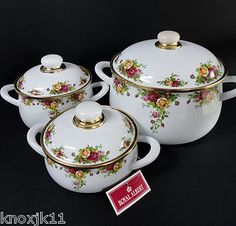 Royal Albert Old Country Roses LIDDED POTS & PANS