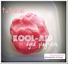 Kool-Aid Dyed Playdough - mama♥miss
