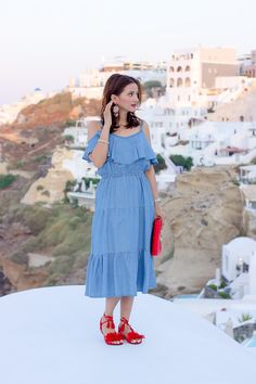 Ella Pretty Blog: Vacation Style: Embellished Sandals and Tassel Earrings