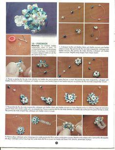 May Flower: Walkthrough ring technique of interweaving Seed Bead Jewelry, Bead Jewellery, Handmade Rings, Handmade Jewelry, Beaded Rings, Beaded Bracelets, Motifs Perler, Beaded Jewelry Patterns, Bijoux Diy
