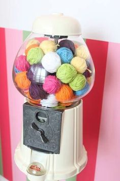 I have and old gum ball machine just like this. Could fill it with sea shells :)