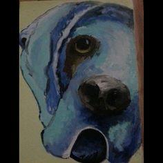 Yağlı boya köpek çalışması [moonça 11 yaş yağlı boya çalışması]