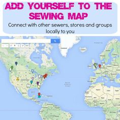 Make new sewing friends locally with the sewing map | So Sew Easy | Bloglovin'