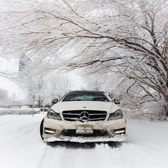 Rocking the snow with the C350 Coupe 4MATIC.  #MBPhotoCredit @cavasottiphoto  #Mercedes #Benz #CClass #C350 #4MATIC #carsofinstagram #germancars #luxury #snow #winter #Blizzardof2015 #Blizzard2015 #Snowmageddon2015 #Juno