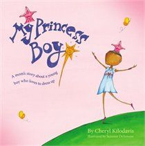 """Kilodavis, C. & DeSimone, S. (2011). My Princess Boy. New York: Aladdin. In this picture book for PreK to first grade, a mother tells her perspective of a son who deems himself a """"princess boy"""". This story tells an open and honest struggle of a boy who enjoys traditional female things, and the love this young boy deserves for being himself. By creating diverse characters and a focus on their actions we really see the importance of the subject at hand."""