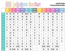 Pin this handy chart for later! What's your LuLaRoe size? Every style is a little different. Find your LuLaRoe size on this handy comprehensive sizing chart.  Irma, Carly, Amelia, Ana, Nicole, Cassie, and more!