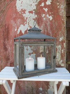 Antique Wooden Lanterns | Vintage-look wooden lantern - must buy this! At nordichouse.co.uk