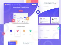 Learning Design Dashboard designed by M Rizky Edriansyah for OWW. Web Layout, Page Layout, Layout Design, Layouts, Landing Page Inspiration, Ui Design Inspiration, Dashboard Design, App Design, Design Your Own Website