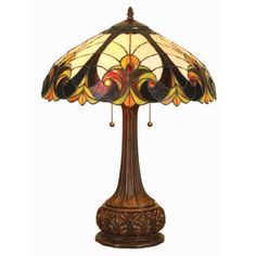 """Chloe Lighting Liaison Tiffany-Style 2-Light Victorian Table Lamp with 18"""" Shade #tablelamps"""