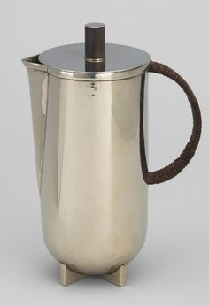 Marianne Brandt. Hot Water Jug. 1924 it is very simple, its large Capacity should be used to place any kinds of drinks or soups in big/family party.