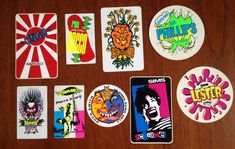 Check out this crazy sticker collection and feel like a giddy kid again.