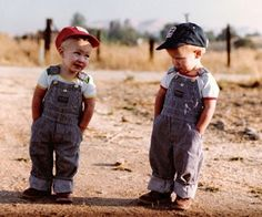 """One of my all-time favorite pictures. The one that hung in Grandma's house said, """"Been farming long?"""""""