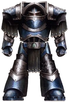 A Pre-Heresy Alpha Legion Terminator Strike Leader in Cataphractii Pattern Terminator Armour