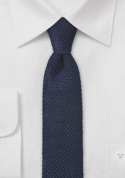 Seiden-Krawatte gewirkt nachtblau günstig kaufen