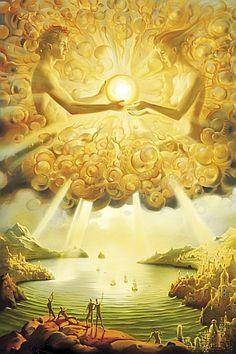 """When you possess Light within, you see it externally."" ~Anaïs Nin (Artwork by Vladimir Kush) ..*"