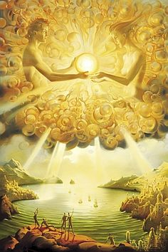 """When you possess Light within, you see it externally."" ~Anaïs Nin (Artwork by Vladimir Kush) ..*"