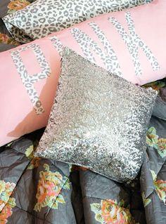 Bedroom bling! New PINK Bedding arriving soon.