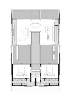 Zephyros Villa by Koutsoftides Architects just use 1 floor - 2 bedroom, 2 bath. use middle as pavilion.