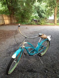 Here's my bike, a 3-speed Electra. It's beautiful, but I carelessly left it in the rain a few months ago, and it's been rusty ever since.