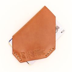 E3 Holster Style Slim Wallet- Horween Natural Shell Cordovan
